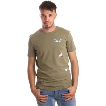 Îmbracaminte Bărbați Tricouri mânecă scurtă Antony Morato MMKS01515 FA100144 Verde