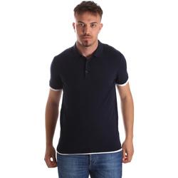 Îmbracaminte Bărbați Tricou Polo mânecă scurtă Gaudi 911FU53006 Albastru