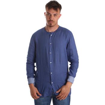 Îmbracaminte Bărbați Cămăsi mânecă lungă Gaudi 911BU45002 Albastru