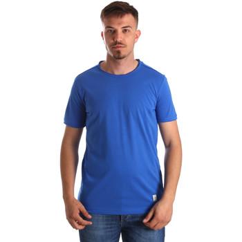 Îmbracaminte Bărbați Tricouri mânecă scurtă Gaudi 911BU64023 Albastru