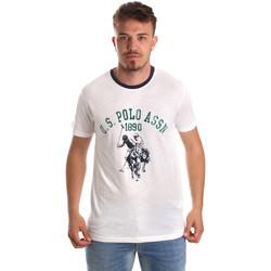 Îmbracaminte Bărbați Tricouri mânecă scurtă U.S Polo Assn. 52465 51334 Alb