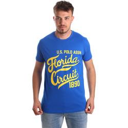 Îmbracaminte Bărbați Tricouri mânecă scurtă U.S Polo Assn. 49351 51340 Albastru
