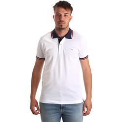 Îmbracaminte Bărbați Tricou Polo mânecă scurtă Key Up 2Q62G 0001 Alb