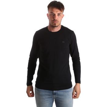 Îmbracaminte Bărbați Tricouri cu mânecă lungă  Key Up 2E96B 0001 Negru