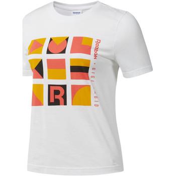Îmbracaminte Femei Tricouri mânecă scurtă Reebok Sport DY9368 Alb