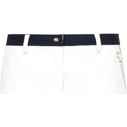 Îmbracaminte Femei Pantaloni scurti și Bermuda Emporio Armani EA7 3GTS02 TN29Z Alb