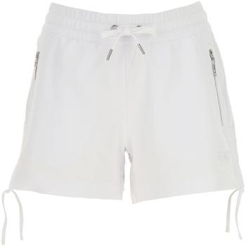 Îmbracaminte Femei Pantaloni scurti și Bermuda Ea7 Emporio Armani 3GTS52 TJ31Z Alb