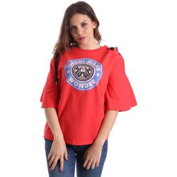 Îmbracaminte Femei Tricouri mânecă scurtă Gaudi 911BD64037 Roșu