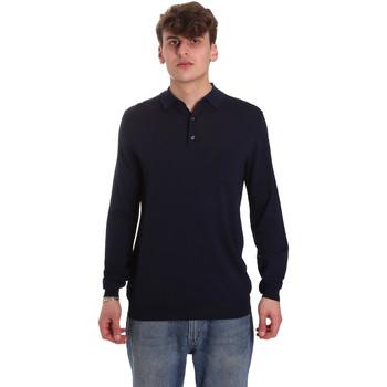 Îmbracaminte Bărbați Tricou Polo manecă lungă Antony Morato MMSW01065 YA500057 Albastru