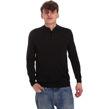 Îmbracaminte Bărbați Tricou Polo manecă lungă Antony Morato MMSW01065 YA500057 Negru