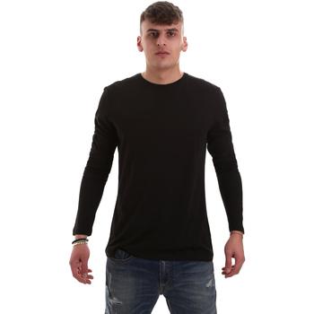 Îmbracaminte Bărbați Tricouri cu mânecă lungă  Antony Morato MMKL00264 FA100066 Negru