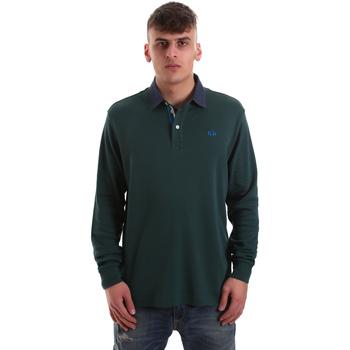 Îmbracaminte Bărbați Tricou Polo manecă lungă La Martina OMP007 JS169 Verde