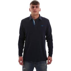 Îmbracaminte Bărbați Tricou Polo manecă lungă La Martina OMP007 JS169 Albastru