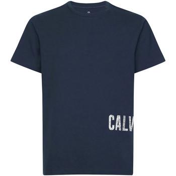 Îmbracaminte Bărbați Tricouri mânecă scurtă Calvin Klein Jeans 00GMH9K287 Albastru