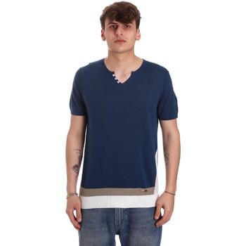 Îmbracaminte Bărbați Tricouri mânecă scurtă Gaudi 011BU53021 Albastru