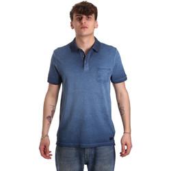 Îmbracaminte Bărbați Tricou Polo mânecă scurtă Gaudi 011BU64017 Albastru