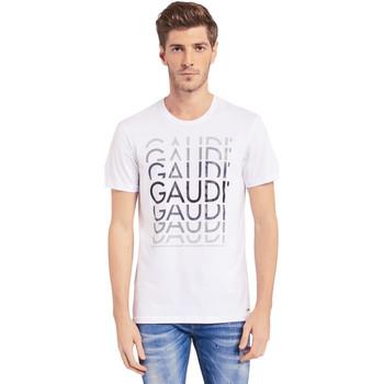 Îmbracaminte Bărbați Tricouri mânecă scurtă Gaudi 011BU64068 Alb