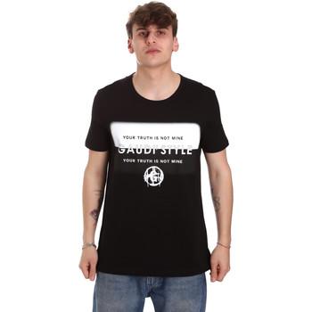 Îmbracaminte Bărbați Tricouri mânecă scurtă Gaudi 011BU64108 Negru