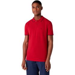 Îmbracaminte Bărbați Tricou Polo mânecă scurtă Wrangler W7D5K4X47 Roșu