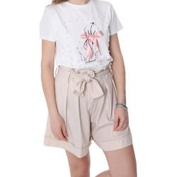 Îmbracaminte Femei Pantaloni scurti și Bermuda Fracomina FR20SP150 Bej