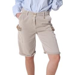 Îmbracaminte Femei Pantaloni scurti și Bermuda Fracomina FR20SP116 Bej