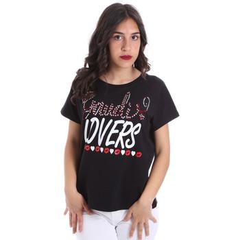 Îmbracaminte Femei Tricouri mânecă scurtă Gaudi 011BD64008 Negru