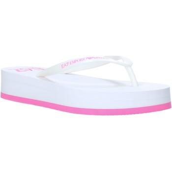 Pantofi Femei  Flip-Flops Ea7 Emporio Armani XFQ008 XK085 Alb