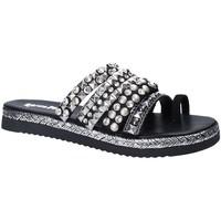 Pantofi Femei Papuci de vară Gold&gold A18 ES286 Negru