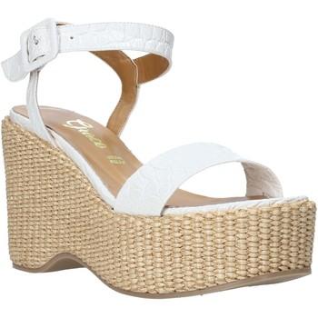 Pantofi Femei Sandale  Grace Shoes 104002 Alb
