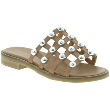 Pantofi Femei Papuci de vară Mally 6141 Maro