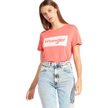 Îmbracaminte Femei Tricouri mânecă scurtă Wrangler W7016D Roșu