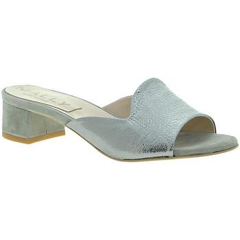 Pantofi Femei Papuci de vară Mally 6195 Argint
