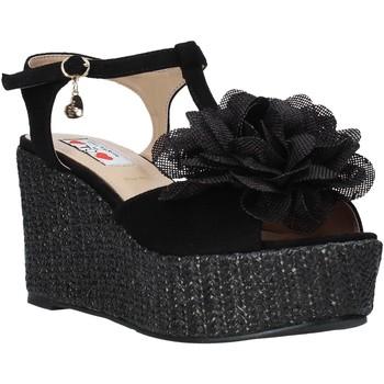 Pantofi Femei Sandale  Love To Love GIN583 Negru
