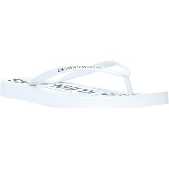 Pantofi Femei  Flip-Flops Calvin Klein Jeans B4R0904 Alb