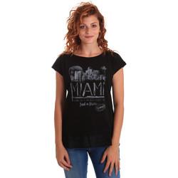 Îmbracaminte Femei Tricouri mânecă scurtă Key Up 5Z10S 0001 Negru