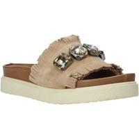 Pantofi Femei Papuci de vară Bueno Shoes CM2217 Bej