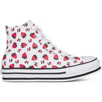 Pantofi Fete Pantofi sport stil gheata Converse 668016C Alb
