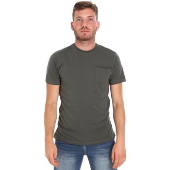 Îmbracaminte Bărbați Tricouri mânecă scurtă Les Copains 9U9010 Verde