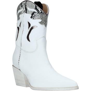 Pantofi Femei Botine Mally 6918P Alb