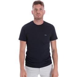 Îmbracaminte Bărbați Tricouri mânecă scurtă Les Copains 9U9011 Albastru