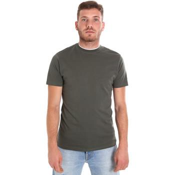 Îmbracaminte Bărbați Tricouri mânecă scurtă Les Copains 9U9013 Verde