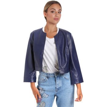 Îmbracaminte Femei Jachete din piele și material sintetic Fracomina FR20SM708 Albastru
