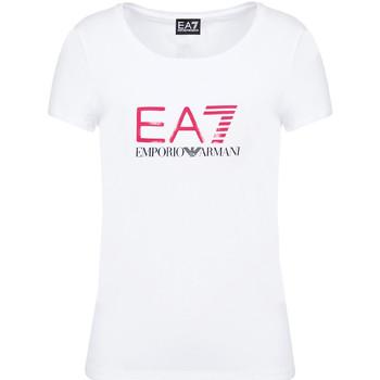 Îmbracaminte Femei Tricouri mânecă scurtă Ea7 Emporio Armani 8NTT63 TJ12Z Alb