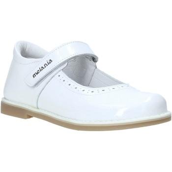 Pantofi Fete Balerin și Balerini cu curea Melania ME2139D0S.E Alb