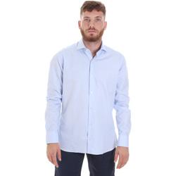 Îmbracaminte Bărbați Cămăsi mânecă lungă Les Copains 20P.887 P3196SL Albastru