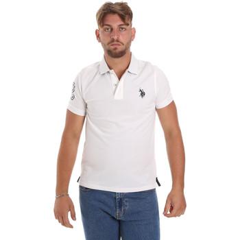 Îmbracaminte Bărbați Tricou Polo mânecă scurtă U.S Polo Assn. 55985 41029 Alb