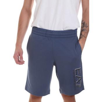 Îmbracaminte Bărbați Pantaloni scurti și Bermuda Ea7 Emporio Armani 3HPS73 PJ05Z Albastru