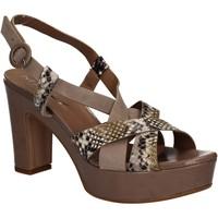 Pantofi Femei Sandale  Mally 5832 Maro