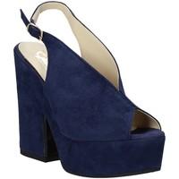 Pantofi Femei Sandale  Grace Shoes ALBA 107 Albastru