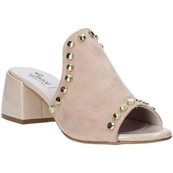 Pantofi Femei Papuci de vară Grace Shoes 1576006 Bej